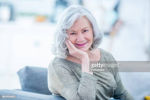 happy senior woman - fatcamera stock pictures, royalty-free photos & images