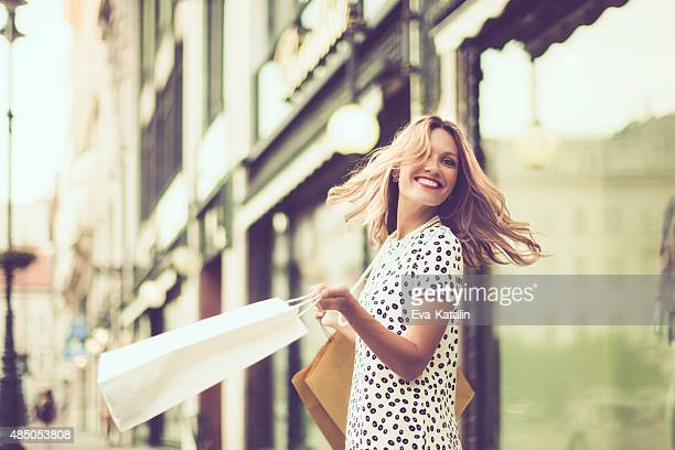 happy shopper - spinning stock pictures, royalty-free photos & images