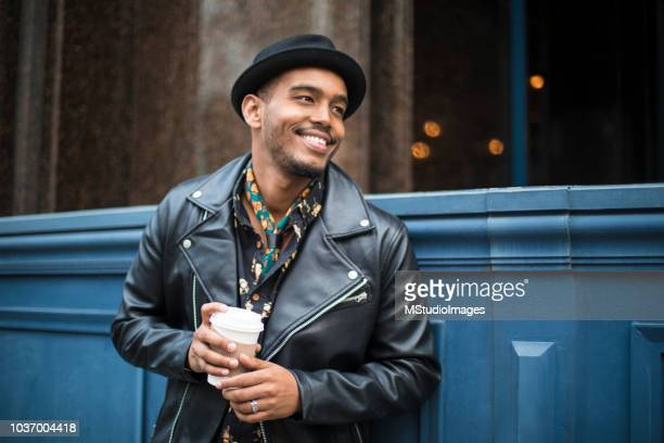 happy smiling african american man. - fashionable stock pictures, royalty-free photos & images