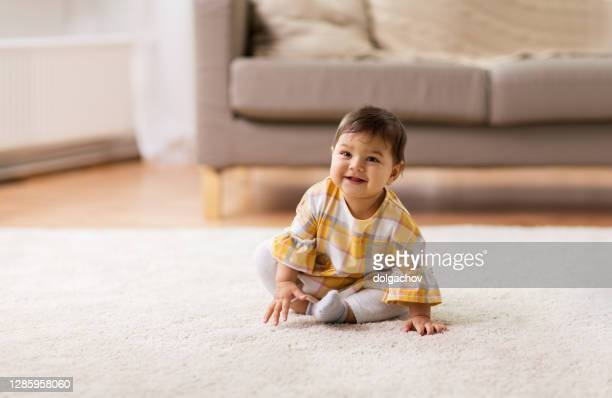 childhood people concept happy smiling baby
