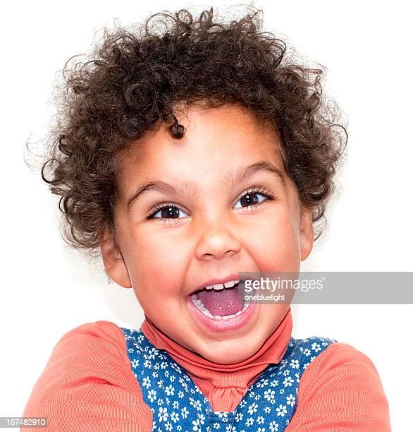 Happy Smiling Child ( 2-3) on White Background