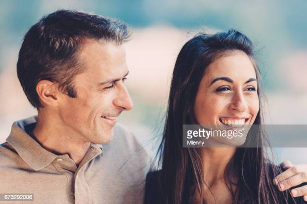 Happy smiling couple together in their vacations