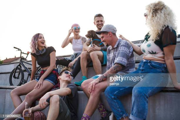 happy smiling diversity group of friends - alternative lifestyle stock pictures, royalty-free photos & images