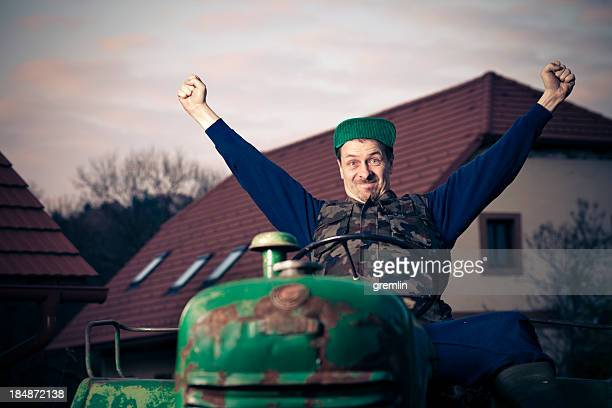 happy smiling farmer - hillbilly stock pictures, royalty-free photos & images
