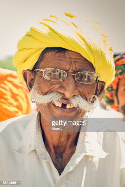 Happy Smiling Gap Toothed Senior Indian Man Real People Portrait India