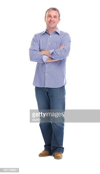happy smiling guy full length