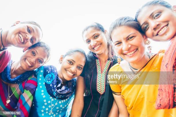 Happy Smiling Indian Women Jaipur India