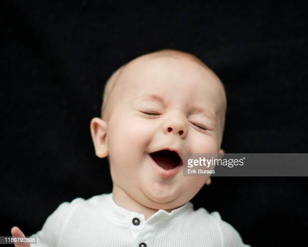 happy, smiling infant - one baby boy only stock pictures, royalty-free photos & images