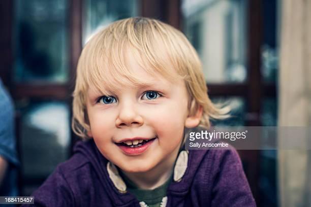 Happy smiling little boy