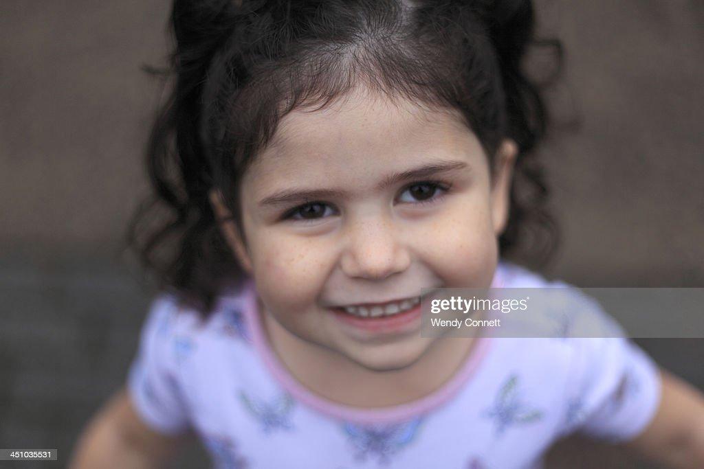 Happy Smiling Little Girl : Stock Photo