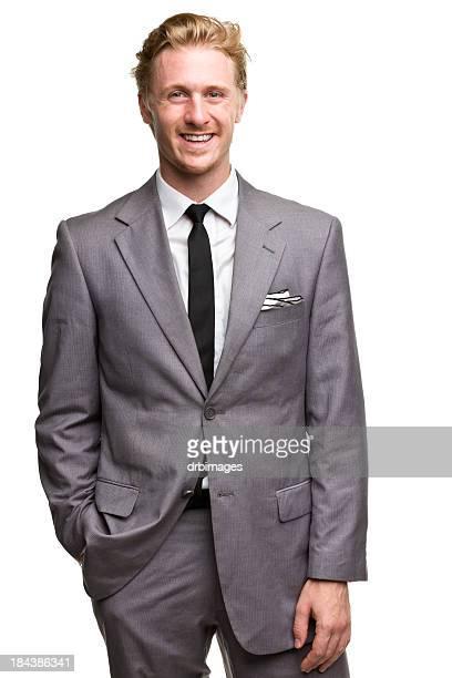 Glücklich lächelnd Mann In Anzug