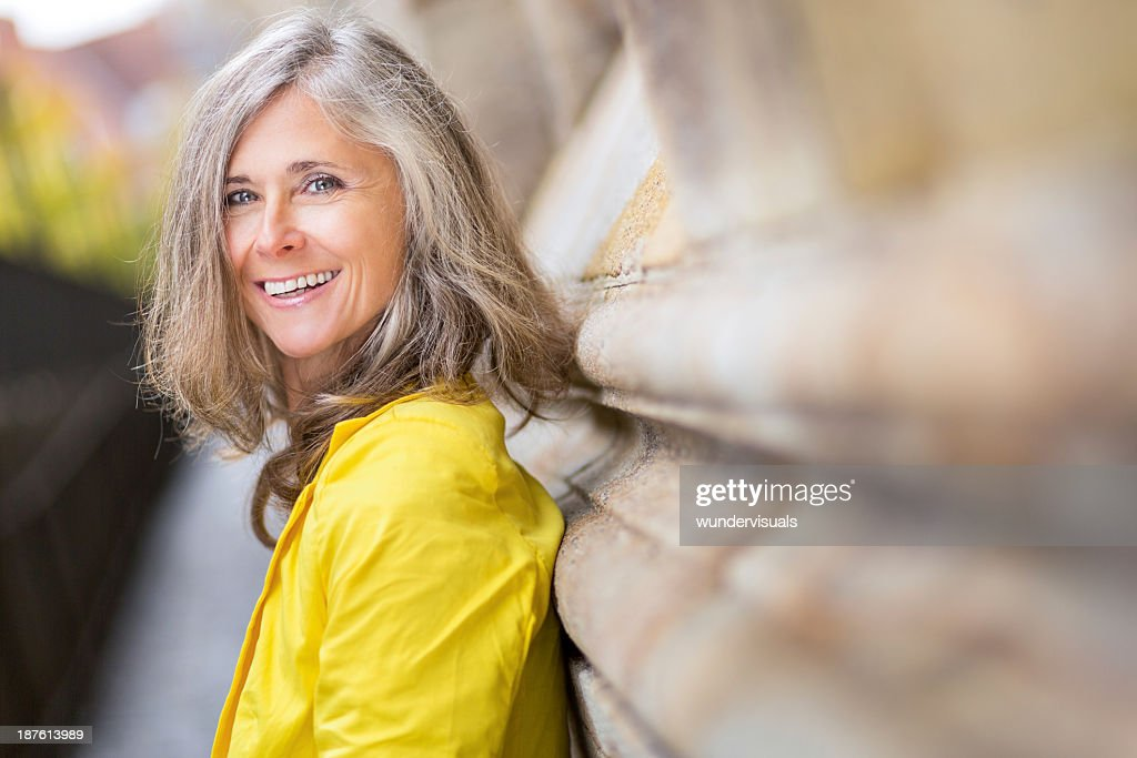 Happy Smiling Mature Woman : Stock Photo