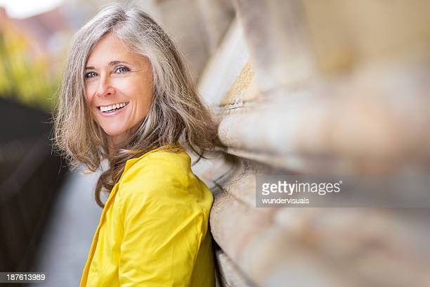 happy smiling mature woman - 50 54 years stock pictures, royalty-free photos & images