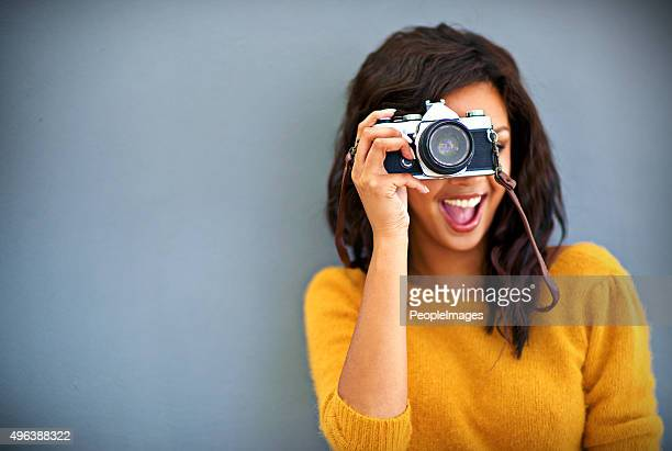 happy snappy! - aiming stock pictures, royalty-free photos & images