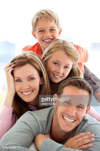 happy standard caucasian family - vertical stock pictures, royalty-free photos & images