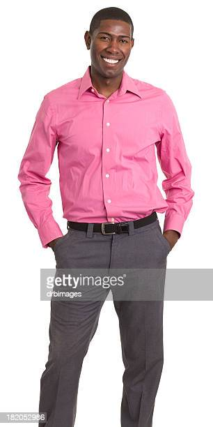happy standing young man - open collar stock photos and pictures