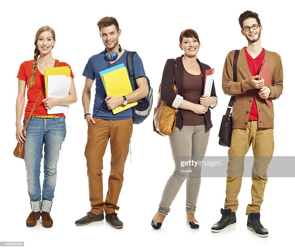 Happy students : Stock Photo