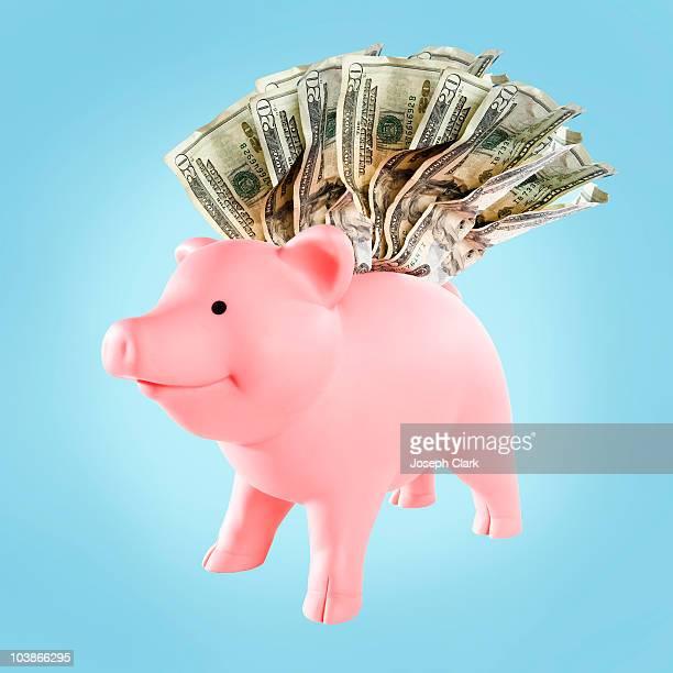 Happy Stuffed Piggy Bank