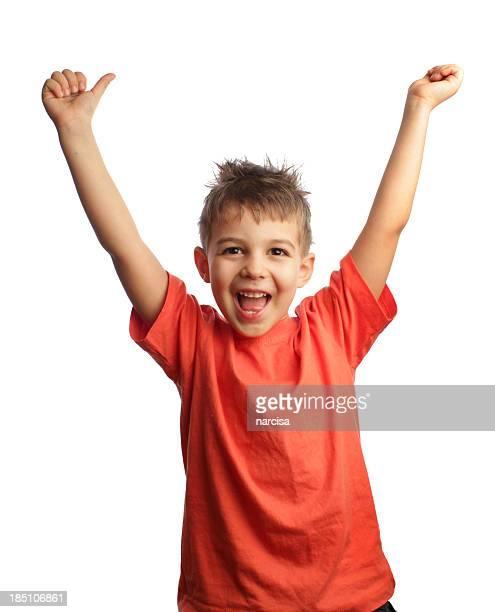 Happy successfull boy