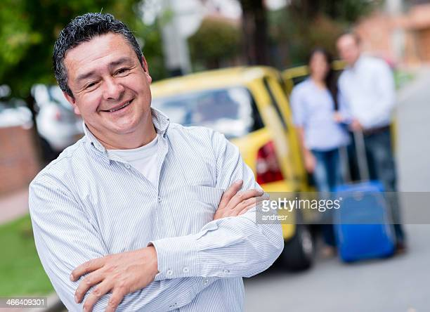 happy taxi driver - taxi driver stock photos and pictures