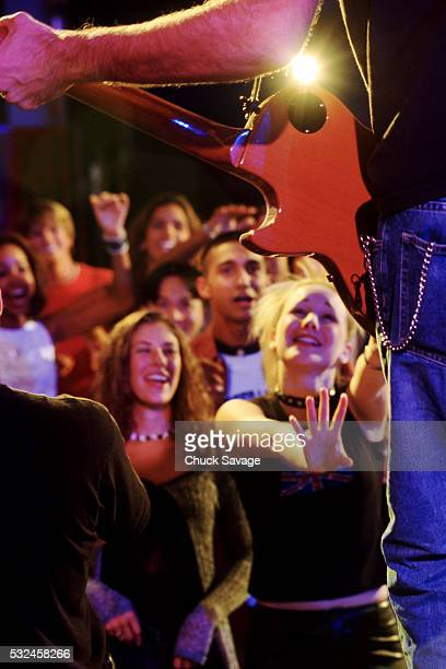Happy Teen Girls in the Audience