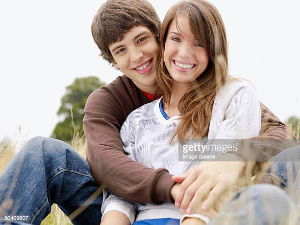 happy teenage couple - teenage couple stock pictures, royalty-free photos & images