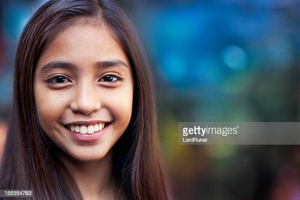 happy teenage girl - pretty girls stock photos and pictures