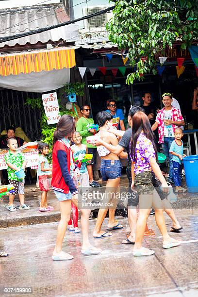 Happy thai at Songkran day