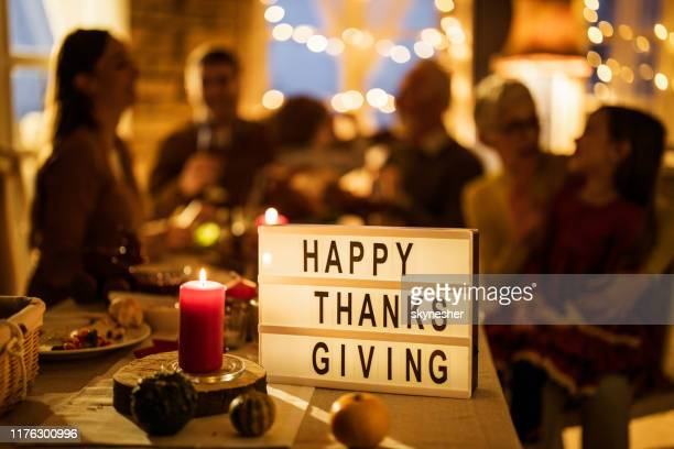happy thanksgiving people! - thanksgiving holiday stock pictures, royalty-free photos & images