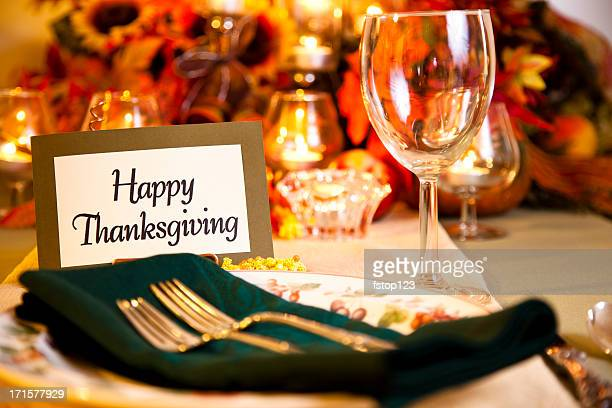 Happy Thanksgiving place setting
