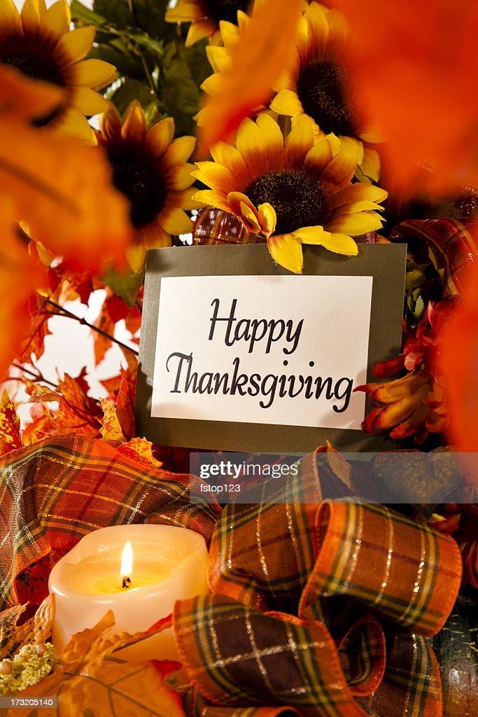 Happy Thanksgiving still life : Stock Photo