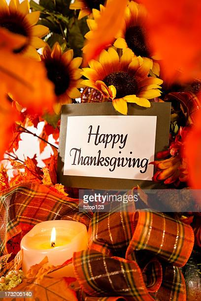 happy thanksgiving still life - happy thanksgiving card stock pictures, royalty-free photos & images