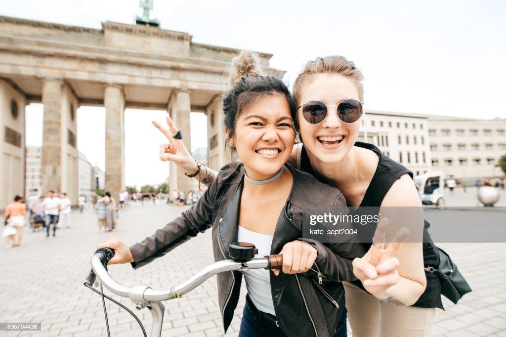 Happy time in Berlin : Stock Photo