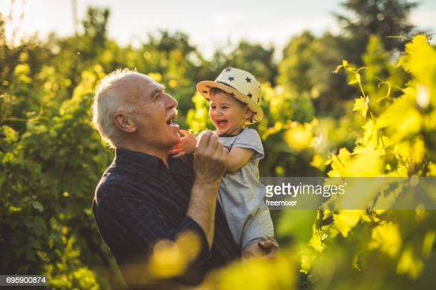 Happy times with grandpa