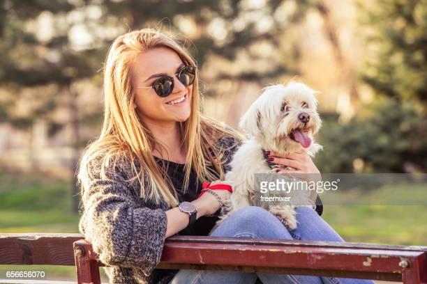 Happy keer met mijn hond