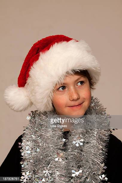Happy tinsel boy