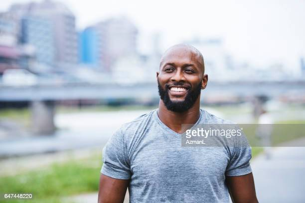 happy to be so strong - most handsome black men stock photos and pictures