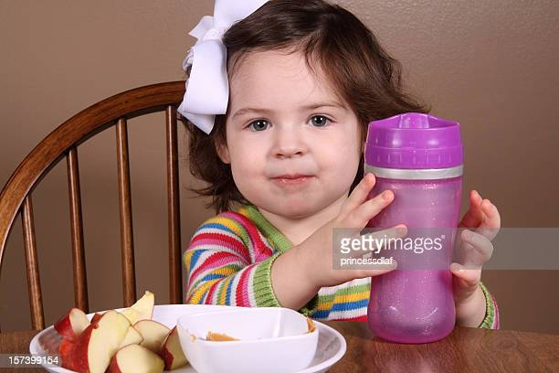 Happy Toddler at Snacktime
