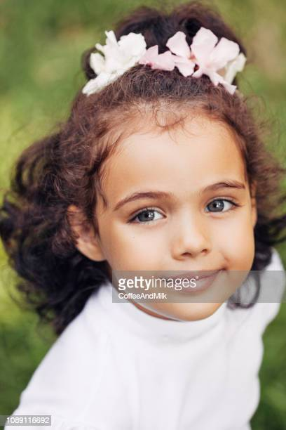 happy toddler girl smiling outdoors - little russian girls stock photos and pictures