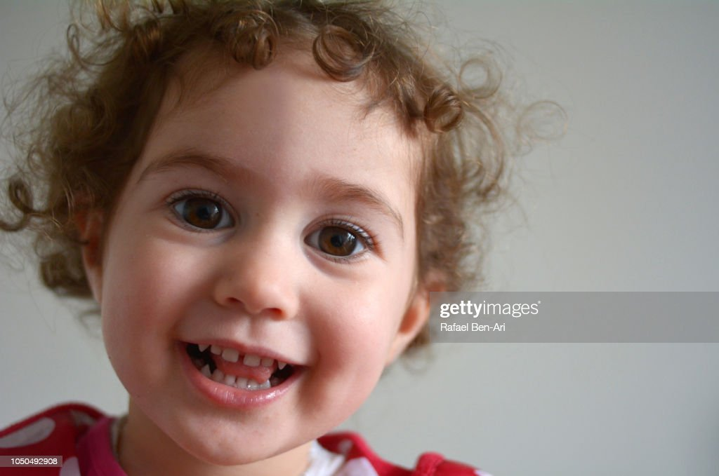 Happy Toddler Smiling and Looking at the Camera : Stock Photo