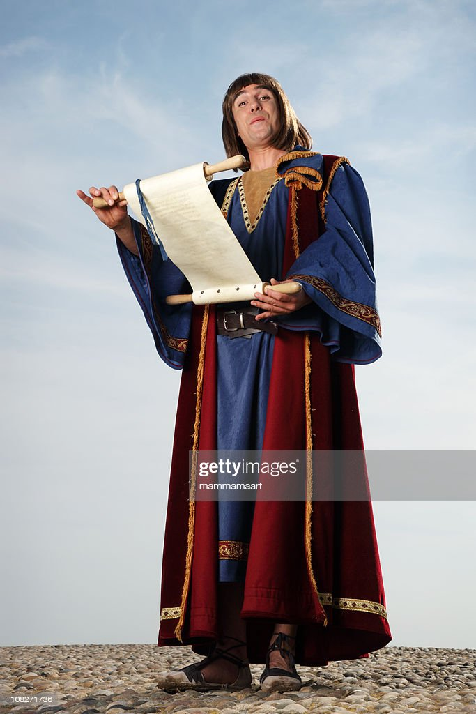 Happy Town Crier : Stock Photo
