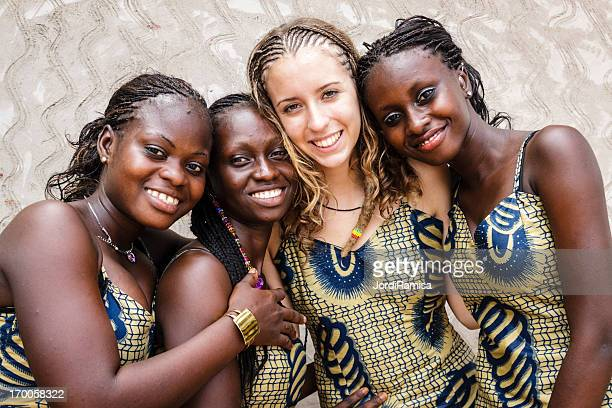 happy traditional party - senegal stock pictures, royalty-free photos & images
