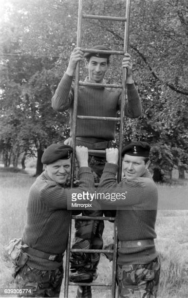 Happy trio Signalman Arthur Warner Signalman Jack Morgan from Middlesbrough Signalman Mick Alexander worked with NEEB from Billingham 24th June 1981