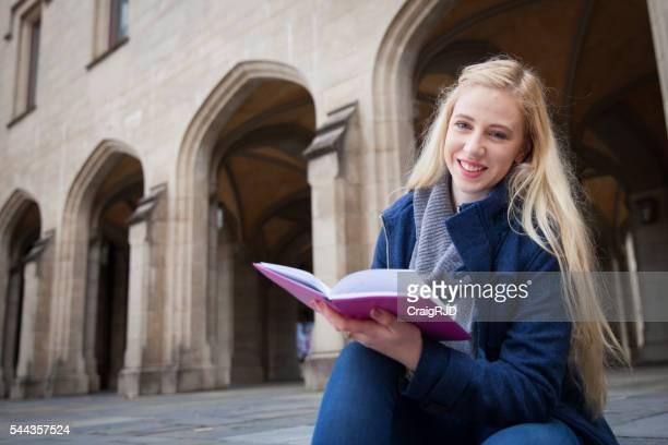 Happy University Student