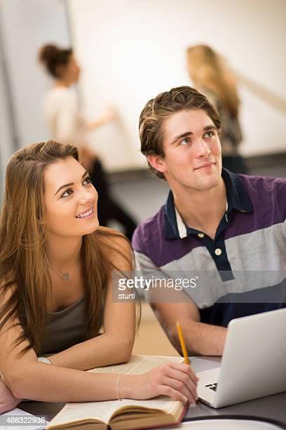 happy university students