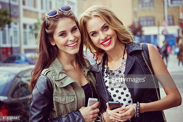happy urban girls - izusek stock pictures, royalty-free photos & images