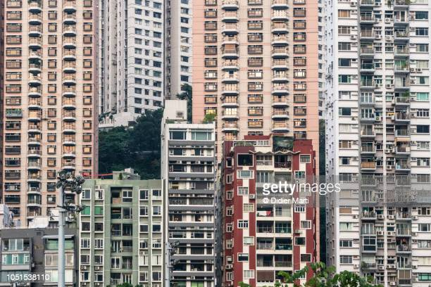 Happy Valley residential district in Hong Kong, China
