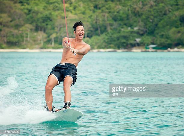 Happy Wakeboarder on tropical Waters (XXXL)
