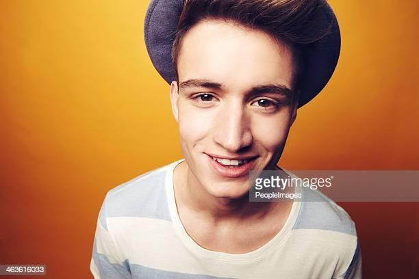 Happy wearing my hat