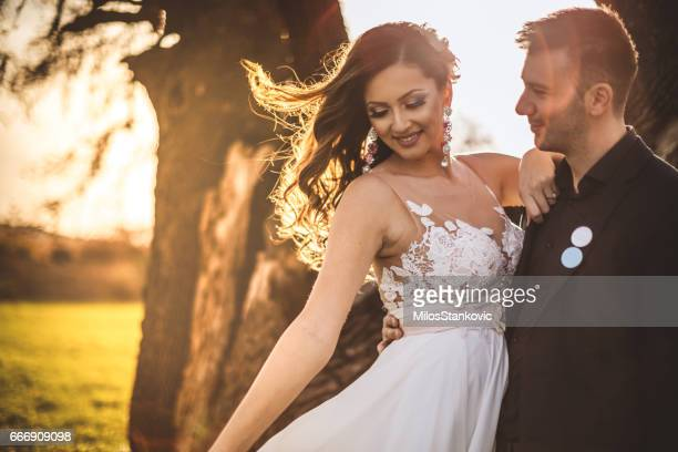 happy wedding couple - wedding role stock photos and pictures